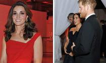 Trong khi chị dâu Kate tiết kiệm diện lại đầm cũ, Công nương Meghan lại chọn trang phục hơn 65 triệu đồng đi dự sự kiện