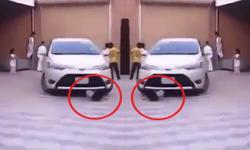 Bé gái 3 tuổi suýt mất mạng vì thích ô tô