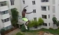Cú nhảy liều lĩnh của chàng trai