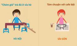 10 điểm khác biệt thú vị giữa Hà Nội và Sài Gòn