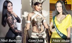 Những trang phục gây tranh cãi của mỹ nhân Việt khi thi Hoa hậu
