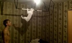 Chú mèo với ước mơ 'sáu múi'