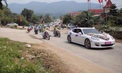 Đám cưới ở Hà Tĩnh gây choáng với dàn mô tô 'khủng'