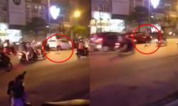 Thanh niên ngáo đá, nhảy ra giữa đường chặn đầu, đập kính xe