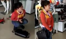 Girl xinh ăn cắp ở cửa hàng quần áo bị bắt tại trận
