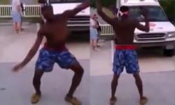 Cười vỡ bụng với màn tập thể dục của anh da đen
