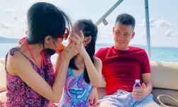 Vợ chồng Thủy Tiên khéo khoe con gái lớn phổng phao khi đi du lịch cùng gia đình
