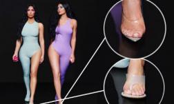 """Mặc đồ bó sát gợi cảm nhưng chị em Kim Kardashian bị phát hiện """"mọc"""" thêm ngón chân"""
