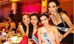 Trúc Diễm tự tin 'tiệc tùng' cùng các người đẹp HHQT 2011