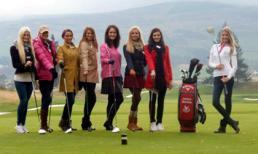 Người đẹp HH thế giới 2011 chơi golf và thăm lâu đài cổ