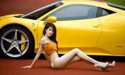 Thêm ảnh khoe 3 vòng của Ngọc Trinh và siêu xe