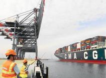 Lần đầu tiên, cảng VN đón tàu container trọng tải 131.000 DWT