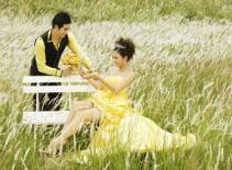 Vân Trang diện váy cưới bên