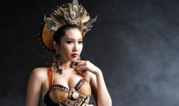 Hoa hậu Việt hóa nữ thần gợi cảm trong trang phục dân tộc