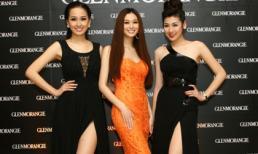 Tú Anh - Phương Thúy diện váy dạ hội đen khoe chân trắng ngần