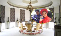Choáng ngợp bước vào dinh thự xa hoa nhà chồng Hà Tăng