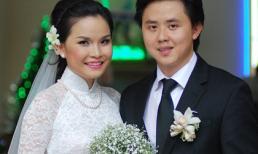 Thu Ngọc (Mây Trắng) rạng rỡ bên chồng trong ngày cưới