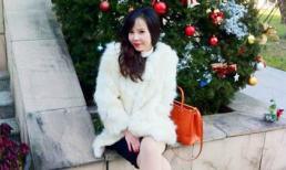 Ngọc Bích đón giáng sinh sớm ở Korea