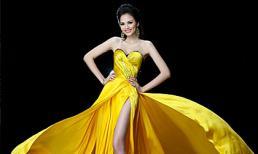 Hoa hậu Diễm Hương trong trang phục dạ hội đêm chung kết Miss Universe 2012