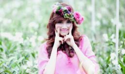 Trang Nhung rạng rỡ với váy hồng