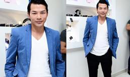 Trần Bảo Sơn phong độ với vest xanh đi dự sự kiện