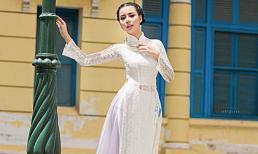 Ngắm Lại Thanh Hương duyên dáng với áo dài trắng