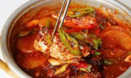 Cá thu đao om cay nóng kiểu Hàn dễ nấu