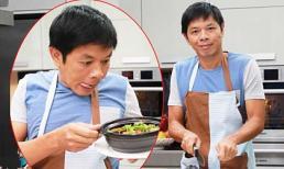 Thái Hòa đeo tạp dề trổ tài nấu ăn