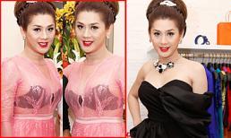"""""""Công chúa tự phong"""" Khanh Chi Lâm diện váy xuyên thấu"""
