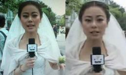 Cô dâu MC Cbiz bỏ đám cưới để đưa tin động đất