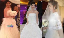 3 váy cưới hàng hiệu rình rang showbiz