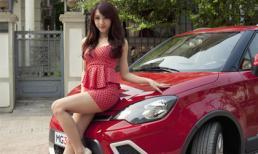 Hot girl Emily quyến rũ bên xe MG3 Xross
