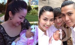 Ốc Thanh Vân rạng ngời hạnh phúc trong tiệc đầy tháng con gái