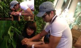 Bắt gặp Trương Nam Thành tận tình chăm vết thương cho bạn gái