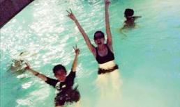 Thiều Bảo Trang đi bơi cuối tuần cùng Phương Uyên