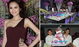 Cận cảnh tiệc sinh nhật đẹp như lễ cưới của Diễm Hương