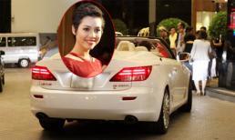 Hoàng My lái Lexus mui trần nổi bật