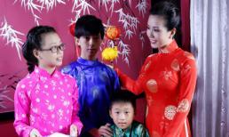 Hoa hậu Thu Hoài đón trung thu sớm cùng các con