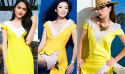 Hương Giang Idol 'bắt chước' Chương Tử Di, Ngọc Thúy diện váy nhái Dior