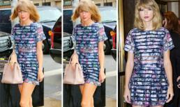 'Công chúa' Taylor Swift khoe chân dài miên man với váy ngắn