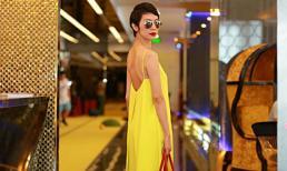 Xuân Lan diện váy vàng rực tham gia casting người mẫu