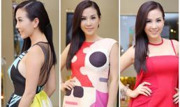 Hoa hậu Thu Hoài thay váy áo liên tục trong sự kiện