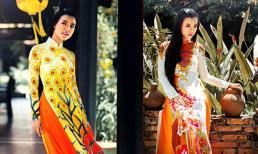 Á hậu Hoàng Oanh đẹp rạng ngời với áo dài