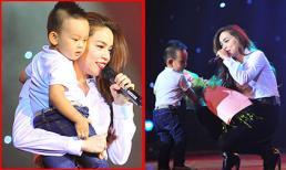 Hồ Ngọc Hà ôm fan nhí 'nghẹn ngào' trên sân khấu