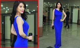 Trương Ngọc Ánh diện váy xanh nổi bật đi làm giám khảo