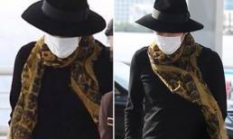 Jang Geun Suk ngụy trang kín mít như 'bà đẻ' ở sân bay