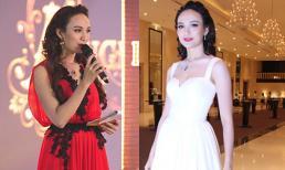 Hoa hậu Ngọc Diễm gây chú ý khi thay hai váy tại sự kiện