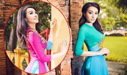 Trương Nhi tươi tắn với áo dài, căng tràn sức xuân