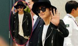 Lee Min Ho 'chất lừ' với phong cách 'bụi bặm' tại sân bay