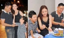 Jennifer Phạm hạnh phúc đi chơi với ông xã và con trai